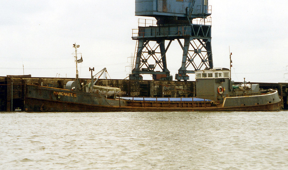 As MARGARET G, photo from Ted Ingham, at Queenborough