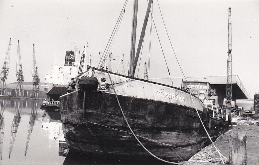 As BRANDRAM in the India & Millwall Docks on 19/3/1972