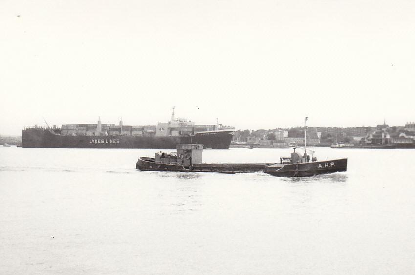 and inward as AHP at Tilbury on 23/6/1981