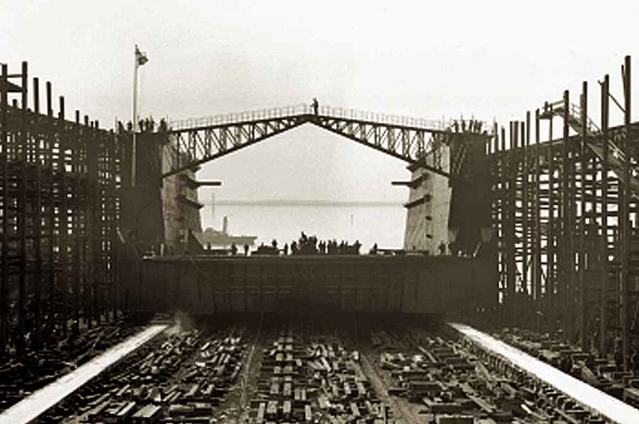 Another section of Affonso Penna Dock being launched
