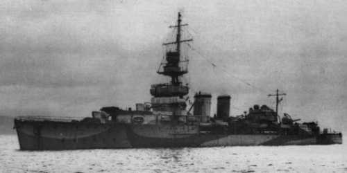 HMS Cardiff in 1943