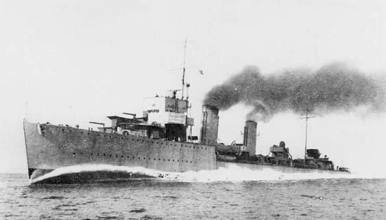 HMS Amazon on trials