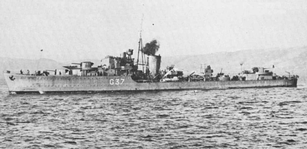 HMS Kelvin as G 37