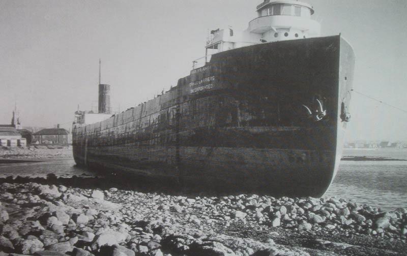 Laker ashore at Ardrossan