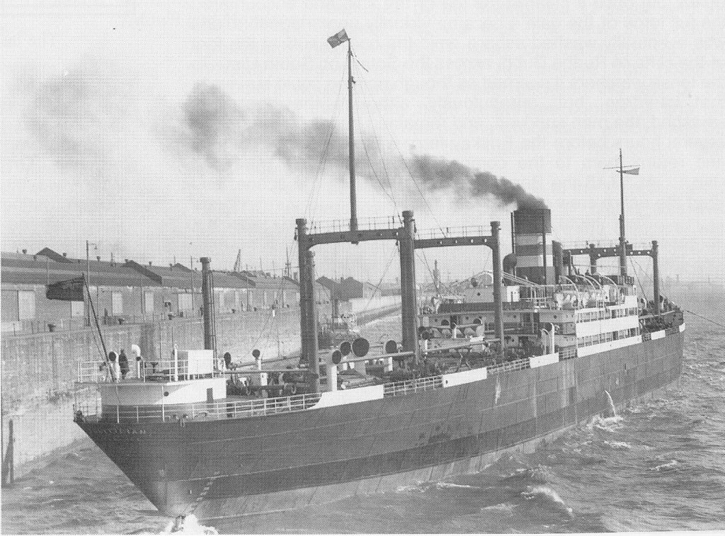 SS Politician - leaving Liverpool