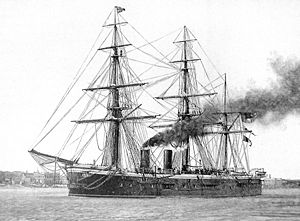 HMS SULTAN as she appeared originally