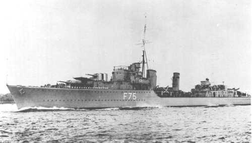 HMS Eskimo in February 1939