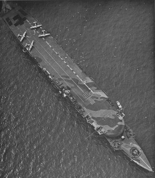 HMS Furious as aircraft-carrier in 1941