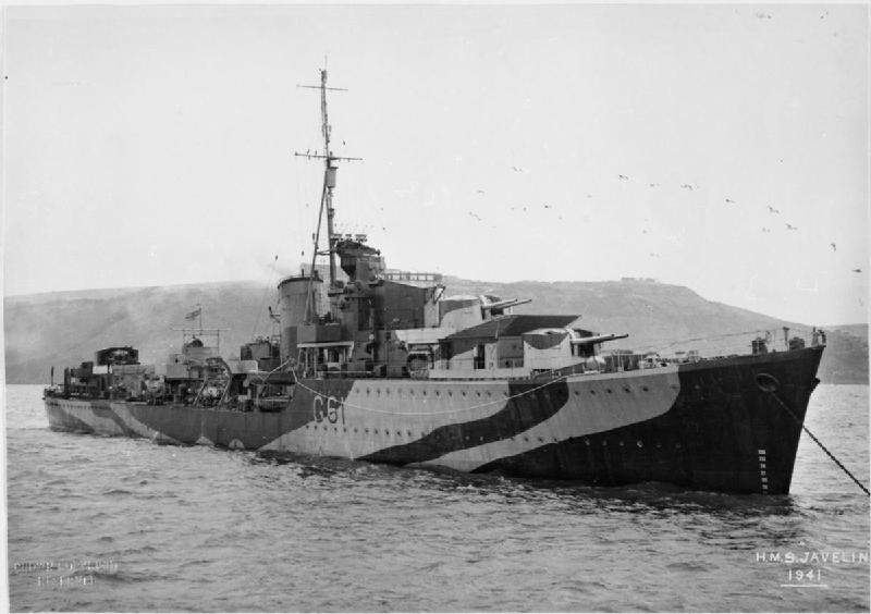 HMS Javelin in 1941