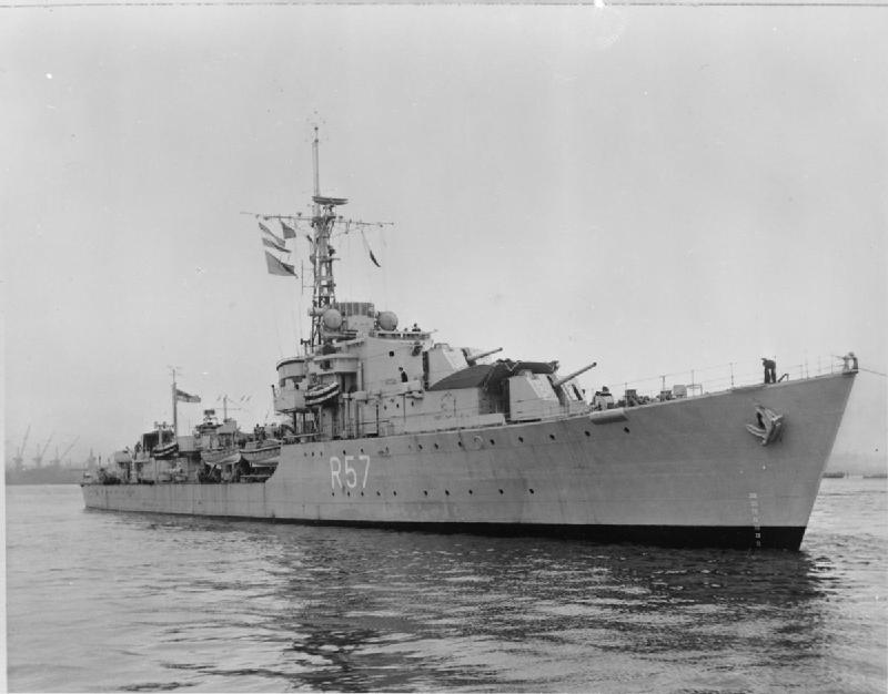 HMS Cossack under tow