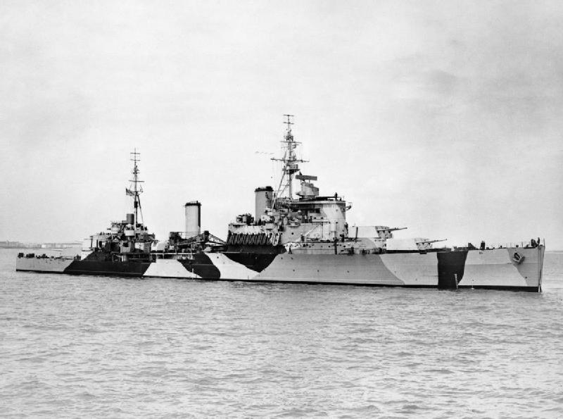 HMS Jamaica - anchored