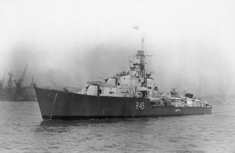 HMS Tenacious - R 45