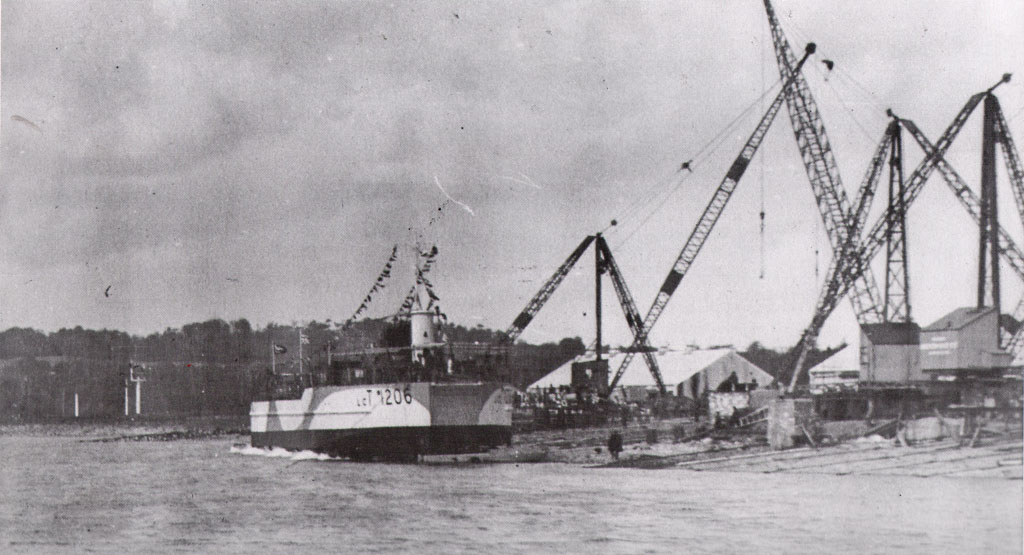 LCT 1206 launch at Warrenpoint Shipyard